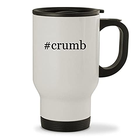#crumb - 14oz Hashtag Sturdy Stainless Steel Travel Mug, White