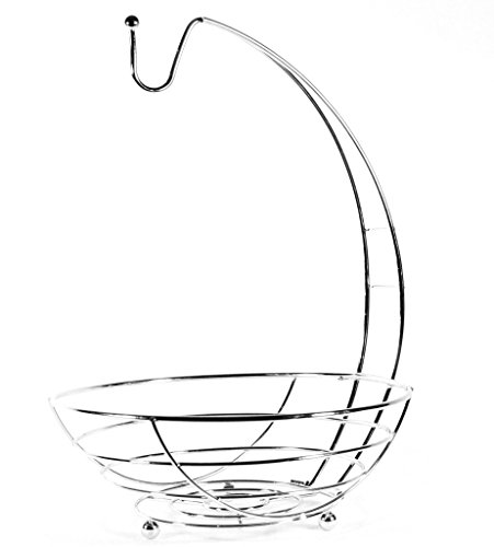 Kole Imports Banana Hanger Chrome Wire Fruit Basket by Kole Imports