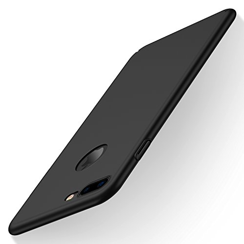 iPhone 7 Plus Case, CASEKOO Slim Fit Shell Thin Hard Protective Scratch Resistant Matte Finish Back Cover for iPhone 7 Plus - Black
