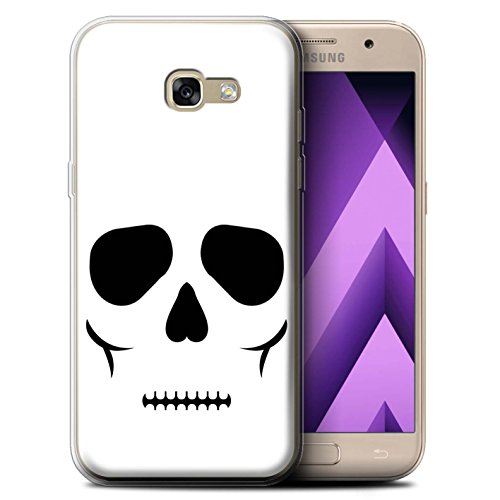 STUFF4 Gel TPU Phone Case / Cover for Samsung Galaxy A5 (2017) / Skull Design / Halloween Character (Scary Halloween Masks 2017 Uk)