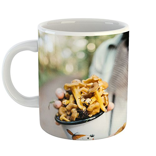 Man Figurine Ceramic Holding Cup (Westlake Art - Mushroom Cup - 11oz Coffee Cup Mug - Modern Picture Photography Artwork Home Office Birthday Gift - 11 Ounce (9EE8-50DC7))