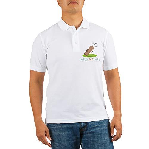 - CafePress Daddy's Little Caddy Golf Shirt Golf Shirt, Pique Knit Golf Polo White