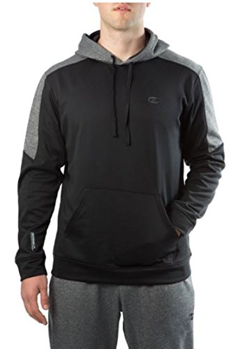 Champion Mens Powertrain Performance Pull Over Hoodie XXL - Black/granite Heather