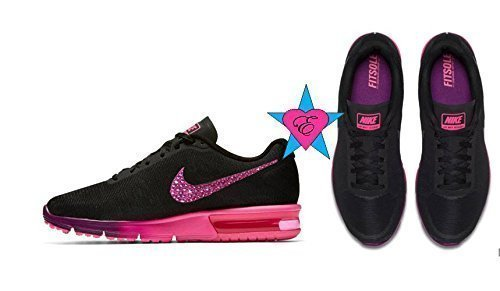 Nike Swoosh Crystal Nike Air Max Sequent Black Purple Pink by Eshays