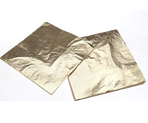 100 Blatt Blattgold Echtgold 14x14CM Naturgold Zum Vergolden Essbar Nagel Art