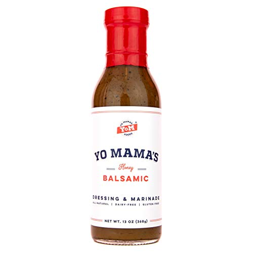 Gourmet Natural Balsamic Vinaigrette Dressing and Marinade by Yo Mama's Foods | (1) Large 15 oz Bottle | Low Carb, Low Sodium, and Gluten-Free! ()