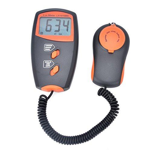 デジタルメーター ライトメーター 照度計 ハンドヘルドデジタルルクスメーター 測光計 範囲:1〜100,000Lux LX1010BS 高精度テスター