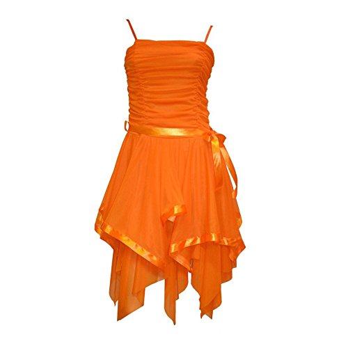 orange junior prom dresses - 1