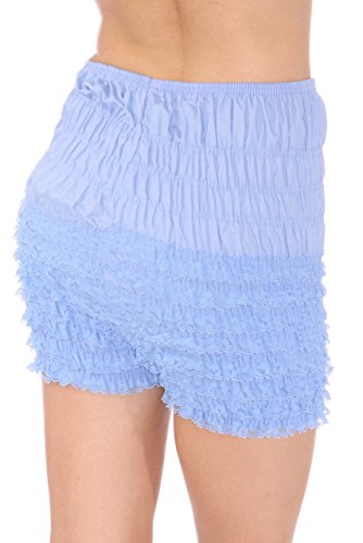 Malco Modes Womens Ruffle Panties Bloomers Dance Bloomers, Sissy Steampunk (Wedgewood Blue, Small)