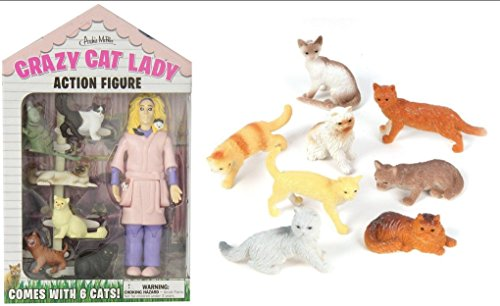 Accoutrements 12470 Crazy Cat Lady Action Figure Set, Multicolor by Accoutrements