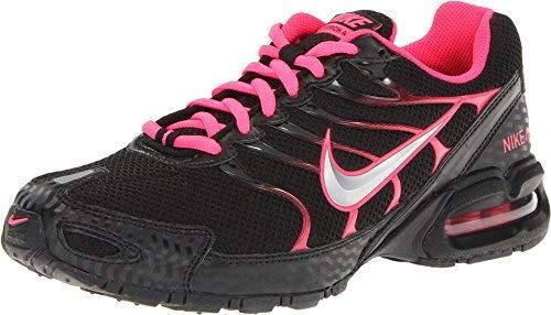 Nike Women's Air Max Torch 4 Running Shoe Black/Metallic Silver/Pink Flash Size 7.5 M - Running Nike Pink Shoes Women
