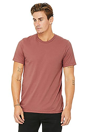 (Bella Canvas Men's Jersey Short Sleeve Tee, Mauve, Small )