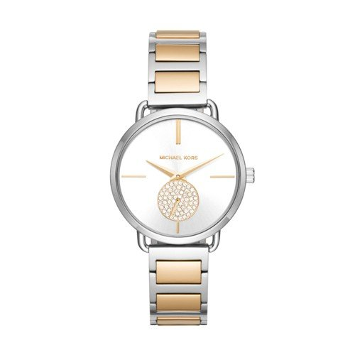 Michael Kors Women's Quartz Stainless Steel Casual Watch, Color:Silver-Toned (Model: - Gold Michael Silver Kors And