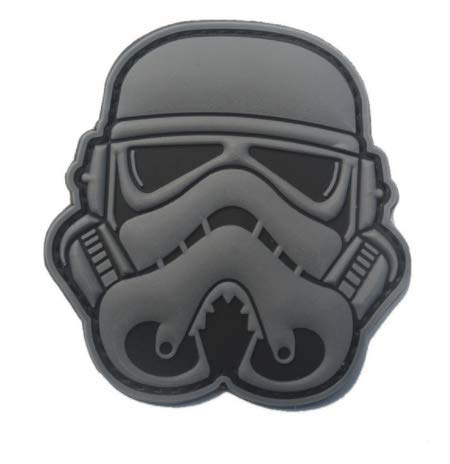 Stormtrooper Helmet Star Wars 1st Order Military PVC Patch Rubber Badges Patch Tactical Stickers for Clothes Back with Hook (color2) ()