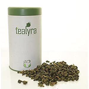 Tealyra - Milk Jin Xuan Oolong - High Mountain Taiwanese Loose Leaf Tea - Great Milky Cream Taste and Aroma - Organically Grown - Weight Loss Tea - Gift-Style Tin - 180g (6.5-ounce)