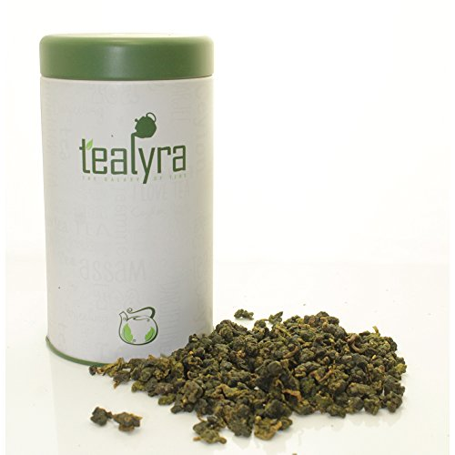 Tealyra - Milk Jin Xuan Oolong - High Mountain Taiwanese Loose Leaf Tea - Great Milky Cream Taste and Aroma - Organically Grown - Weight Loss Tea - Gift-Style Tin - 180g (6.5-ounce) - Celebration Gift Tin