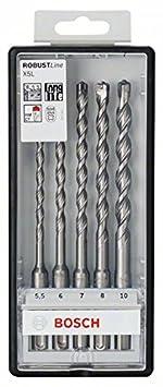 Bosch 2607019927 Assortiment de forets SDS-plus-5 pour perforateur /Ã/˜ 5//6//6//8//10 mm 5 pi/Ã/¨ces