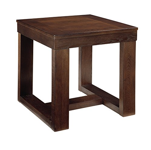 Ashley Furniture Signature Design - Watson End Table - Square - Contemporary with Decadent Finish - Dark Brown (X End)