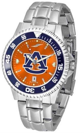 Linkswalker Mens Auburn Tigers Competitor Steel Anochrome Bezel Watch