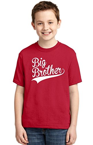 Brother Youth T-shirt (P&B Big Brother Youth T-shirt, S, Red)