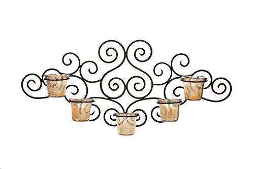 Hosley Ornate Scroll Wall Decor Candle Wall Sconce 27