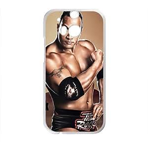 DAZHAHUI WWE World Wrestling The Rock White Phone Case for HTC One M8 wangjiang maoyi by lolosakes