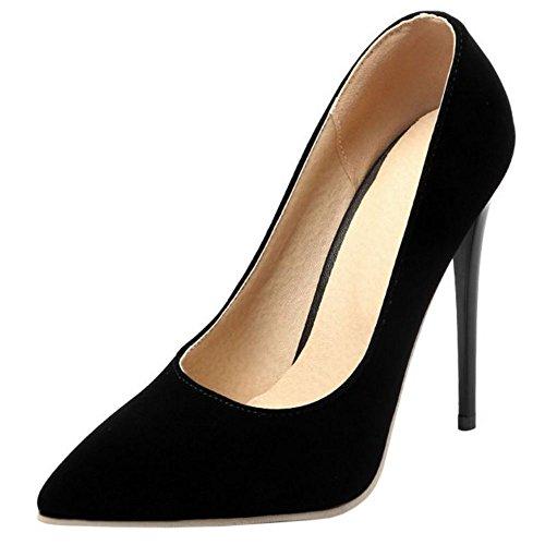 Tacco Black heel Col Su Donna Scarpe Zanpa 10cm 9 Colors Formale qw1AnBnI
