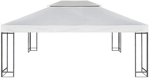 Nishore Toldo Terraza, Cubierta de Gazebo Reemplazo de Dosel, 310 g/m² Blanco Crema 3 x 4 m para Carpa Pabellon Toldo Eventos y Bodas Techo Pérgola: Amazon.es: Hogar
