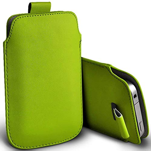 I-Sonite (Green) Premium Slip In Pull Tab Sleeve Faux Leather Pouch Case...