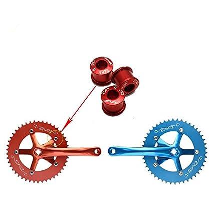 Aleación de aluminio MTB bicicleta de carretera bicicleta de montaña Multicolor tornillos crankset Crank tornillos tuerca