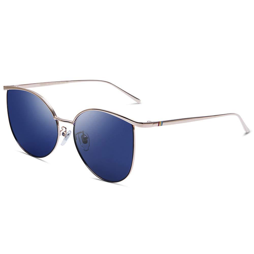 XINGZHE サングラス - 偏光、UV耐性、猫の眼鏡のフレーム、エレガントでエレガントな、ショッピングストリートシューティングを運転する女性、野外活動、3色から選択する サングラス (色 : ライトブルー)  ライトブルー B07QWPVM7K