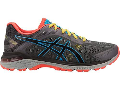 ASICS Men's GT-2000 7 Trail Running Shoes, 10.5M, Dark Grey/Black (Asics Running Shoes Trail Men)