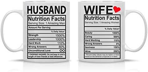 Husband Wife Nutrition Facts Anniversary