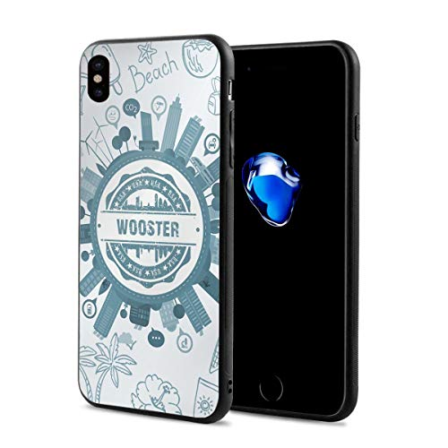 X-JUSEN Printing Custom Design Wooster Ohio iPhone X Phone Case, Phone Cover, Slim Fit Shell Hard Plastic Case, Cellphone Handset Mobile Phone Shell Casing for iPhone X