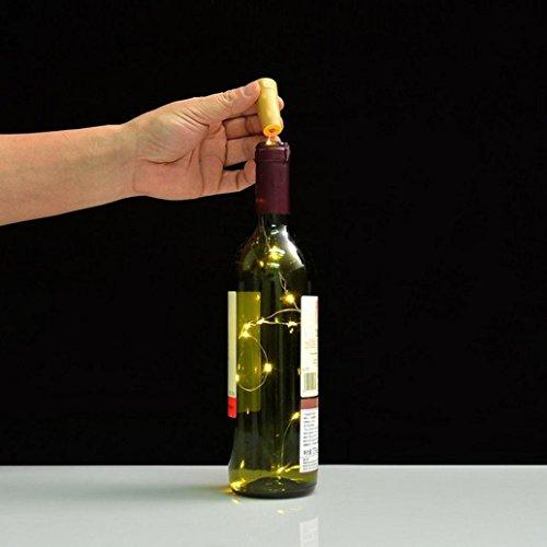 Fabal Solar Wine Bottle Cork Shaped String Light LED Night Fairy Light Lamp (10 LED, Warm White) by Fabal (Image #7)