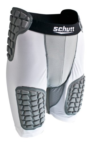 Schutt Youth Protech All in One Football Girdle, White/Grey, Medium