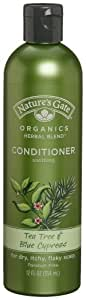 Nature's Gate Organics Conditioner, Tea Tree Oil & Blue Cypress, 12 Ounce (Pack of 3)