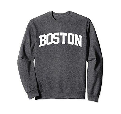 Unisex Boston Arch Sports Sweatshirt Small Dark Heather
