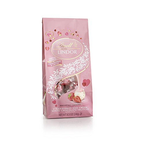 LINDOR Valentine Milk with White Chocolate Truffles, 8.5oz (Pack of 12)