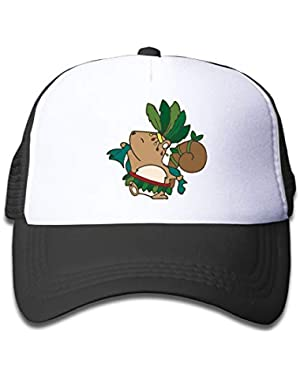 Squirrel Samba On Children's Trucker Hat, Youth Toddler Mesh Hats Baseball Cap