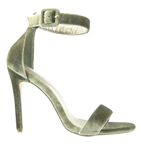 Angkorly - damen Schuhe Pumpe Sandalen - Stiletto - Sexy - String Tanga Stiletto high heel 11 CM - Grüne