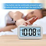 PEAKEEP Smart Night Light Digital Alarm Clock with