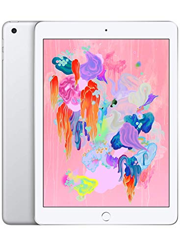 - Apple iPad (Wi-Fi, 128GB) - Silver (Latest Model)