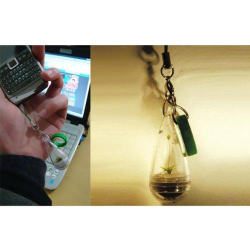 Mini Portable Diy Plant Mobile Phone Chain Happy Farm