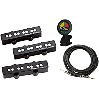 seymour duncan sjb 3 quarter pound jazz bass guitar pickup set w tuner and cable. Black Bedroom Furniture Sets. Home Design Ideas