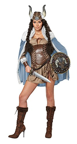 California Costumes Women's Viking Vixen Sexy Warrior Costume, Brown, Medium ()