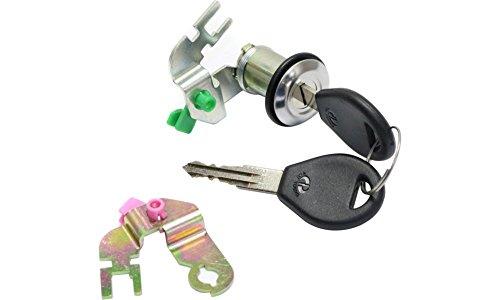 Evan-Fischer EVA5079161535 Door Lock Cylinder for NISSAN PICKUP 92-97 Silver with Keys