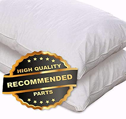 Set of 2 European Comfort 100/% Hypoallergenic Slumber Down Alternative Pillows