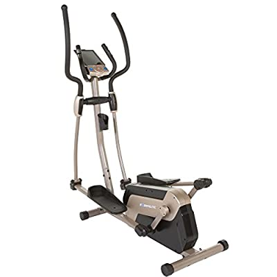 Exerpeutic 5000 Magnetic Elliptical Trainer with Double Transmission Drive/Bluetooth Technology/Mobile Application Tracking