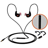 iFox Creations iFE4 In-Ear Wired Sports Earphones with Built-in Mic, an Ear Hook and Volume Control